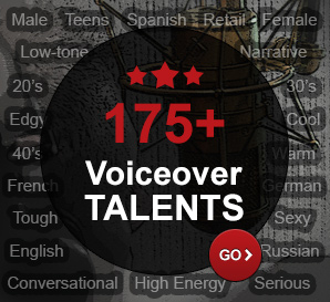Browse any of our 175+ voiceover talents